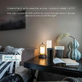 MINITIGER Smart Home Saklar Lampu Touch Wireless WiFi 2 Switch - FXF028 - Black - 4
