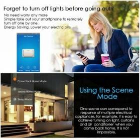 MINITIGER Smart Home Saklar Lampu Touch Wireless WiFi 2 Switch - FXF028 - Black - 6