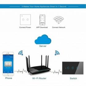 MINITIGER Smart Home Saklar Lampu Touch Wireless WiFi 2 Switch - FXF028 - Black - 7