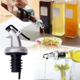 LeePourer Tutup Botol Minyak Olive Oil Vinegar Lock Plug Seal - HE131 - Black
