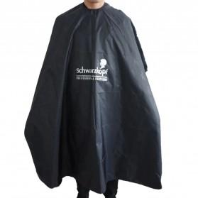 SCHWARZKOPF Jubah Apron Kip Pangkas Rambut Salon Barbershop Cape - B03 - Black