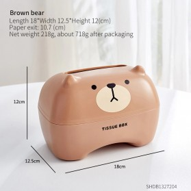 Riancy Kotak Tisu Gulung Tissue Roll Box Model Bear - RB5562 - Brown