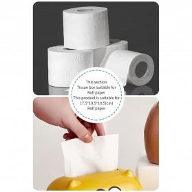 Riancy Kotak Tisu Gulung Tissue Roll Box Model Bear - ZJ010 - Brown - 10