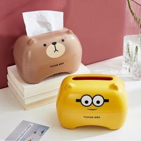 Riancy Kotak Tisu Gulung Tissue Roll Box Model Bear - ZJ010 - Brown - 3
