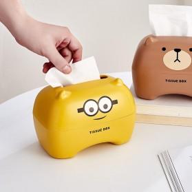 Riancy Kotak Tisu Gulung Tissue Roll Box Model Bear - ZJ010 - Brown - 6