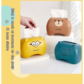 Riancy Kotak Tisu Gulung Tissue Roll Box Model Bear - ZJ010 - Brown - 9
