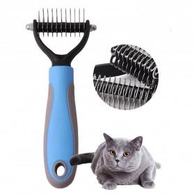 PAWING Sisir Rambut Binatang Peliharaan Hair Removal Comb Pet Grooming Tool - AES0124 - Blue