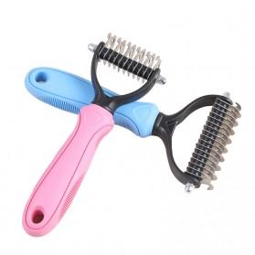 PAWING Sisir Rambut Binatang Peliharaan Hair Removal Comb Pet Grooming Tool - AES0124 - Blue - 3