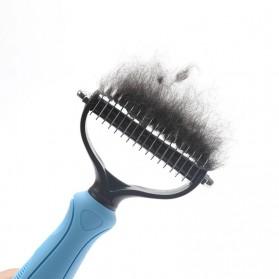 PAWING Sisir Rambut Binatang Peliharaan Hair Removal Comb Pet Grooming Tool - AES0124 - Blue - 7