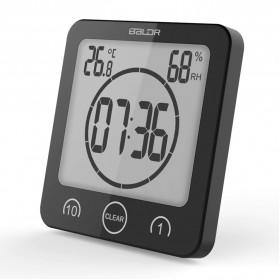 Baldr Timer Mini Digital Dapur Countdown Timer with Thermometer & Hygrometer - B0007 - Black - 2