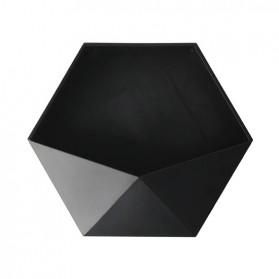 Lazyishhouse Rak Dinding Minimalis Dekorasi Hexagonal - 67267 - Black