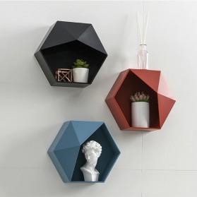 Lazyishhouse Rak Dinding Minimalis Dekorasi Hexagonal - 67267 - Black - 3