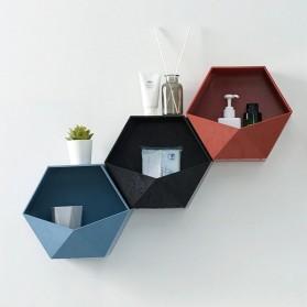 Lazyishhouse Rak Dinding Minimalis Dekorasi Hexagonal - 67267 - Black - 4