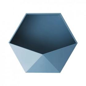 Lazyishhouse Rak Dinding Minimalis Dekorasi Hexagonal - 67267 - Blue