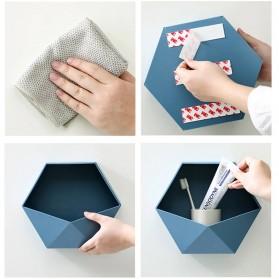 Lazyishhouse Rak Dinding Minimalis Dekorasi Hexagonal - 67267 - Blue - 5