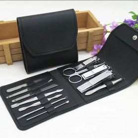 Wattson&Webb Nail Art Set Gunting Kuku Manicure Pedicure 12 PCS - B07T - Silver - 2