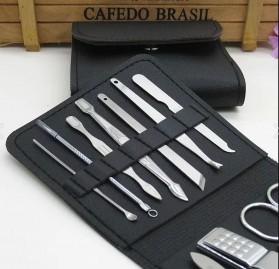 Wattson&Webb Nail Art Set Gunting Kuku Manicure Pedicure 12 PCS - B07T - Silver - 4