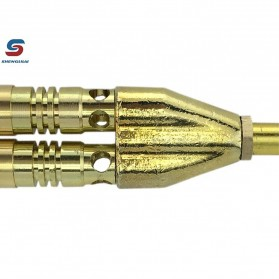 Shenglilai Kepala Gas Butane Torch Double Tube BBQ Soldering Flame Gun Torch Jet - 820 - 3