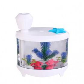 SASO Ultrasonic Air Humidifier Aquarium Night Light 460ml - SA17 - White