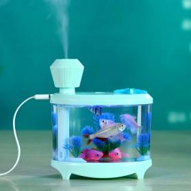 SASO Ultrasonic Air Humidifier Aquarium Night Light 460ml - SA17 - White - 3