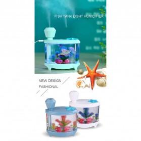 SASO Ultrasonic Air Humidifier Aquarium Night Light 460ml - SA17 - White - 7