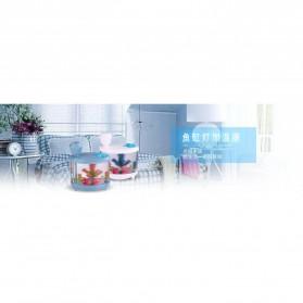 SASO Ultrasonic Air Humidifier Aquarium Night Light 460ml - SA17 - White - 8