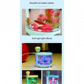 SASO Ultrasonic Air Humidifier Aquarium Night Light 460ml - SA17 - White - 9