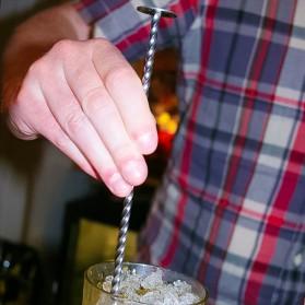 TEAEGG Sendok Aduk Bartender Cocktail Mixing Spoon 25.5cm - CDF-190806 - Golden - 5