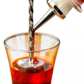 TEAEGG Sendok Aduk Bartender Cocktail Mixing Spoon 25.5cm - CDF-190806 - Golden - 7