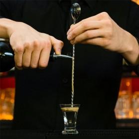TEAEGG Sendok Aduk Bartender Cocktail Mixing Spoon 25.5cm - CDF-190806 - Golden - 8