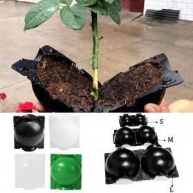 Pot Tanaman Hias High Pressure Plant Root Growing Box Size Large - GL10 - Black