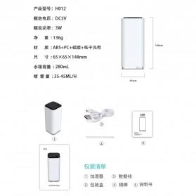 Himist Air Humidifier Pelembab Udara Portable 280ml - H012 - White - 8
