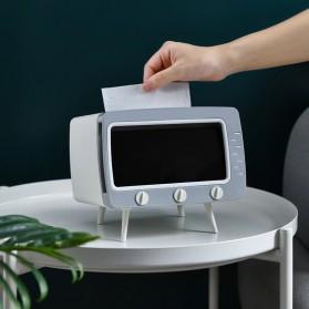 Fiqile Kotak Tisu Model TV with Smartphone Holder - ZJ011 - Gray