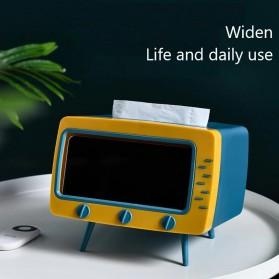 Fiqile Kotak Tisu Model TV with Smartphone Holder - ZJ011 - Gray - 2