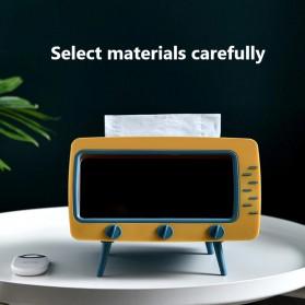 Fiqile Kotak Tisu Model TV with Smartphone Holder - ZJ011 - Gray - 3