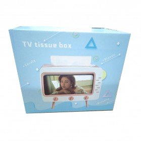 Fiqile Kotak Tisu Model TV with Smartphone Holder - ZJ011 - Gray - 11