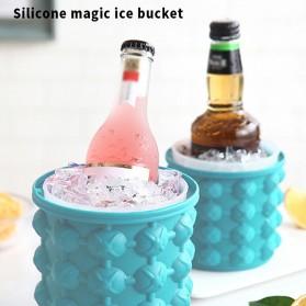 Ice Genie Pencetak Es Batu Ice Cube Maker 3D Silicone Mold Size L - JJ141 - Sky Blue - 3