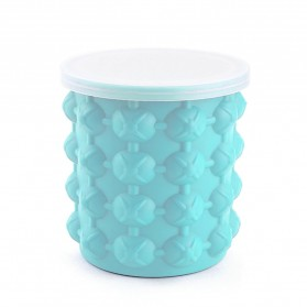 Ice Genie Pencetak Es Batu Ice Cube Maker 3D Silicone Mold Size L - JJ141 - Sky Blue - 4