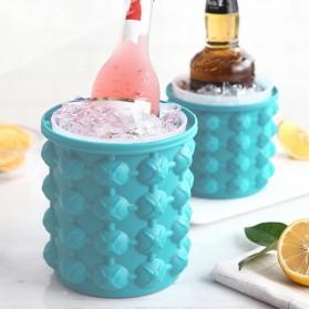 Ice Genie Pencetak Es Batu Ice Cube Maker 3D Silicone Mold Size L - JJ141 - Sky Blue - 5
