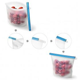 Inguard Kantong Plastik Organizer Makanan Silicone Food Bag Ziplock 1L 4 PCS - Transparent - 3
