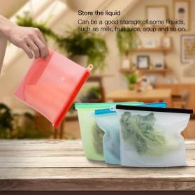 Inguard Kantong Plastik Organizer Makanan Silicone Food Bag Ziplock 1L 4 PCS - Transparent - 6