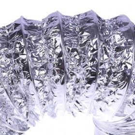 Funbaky Ventilasi Udara Foil Ducting Dryer Vent Hose 160 mm x 1.5 m - E035 - Silver - 3