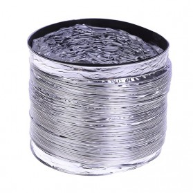 Funbaky Ventilasi Udara Foil Ducting Dryer Vent Hose 160 mm x 1.5 m - E035 - Silver - 6
