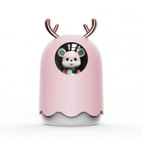 MengChong Humidifier Pelembab Udara Aromatherapy Oil Diffuser Cute Design 300ml - 601 - Pink