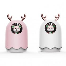 MengChong Humidifier Pelembab Udara Aromatherapy Oil Diffuser Cute Design 300ml - 601 - White - 2