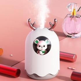 MengChong Humidifier Pelembab Udara Aromatherapy Oil Diffuser Cute Design 300ml - 601 - White - 4