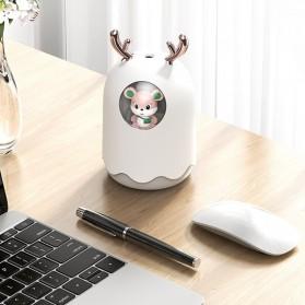 MengChong Humidifier Pelembab Udara Aromatherapy Oil Diffuser Cute Design 300ml - 601 - White - 8