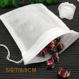 Miss Rose Kantung Filter Saringan Teh Teabag Drawstring Disposable 6 x 8 cm 100 PCS - M100 - White