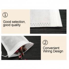 Miss Rose Kantung Filter Saringan Teh Teabag Drawstring Disposable 7 x 9 cm 100 PCS - M100 - White - 4