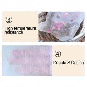 Miss Rose Kantung Filter Saringan Teh Teabag Drawstring Disposable 8 x 10 cm 100 PCS - M100 - White - 5